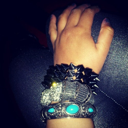 #metalic #bracelets #ilove  (Taken with instagram)