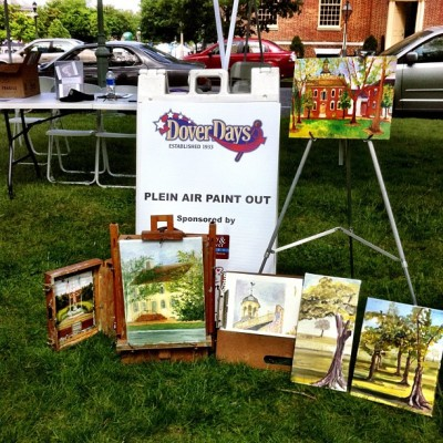 Our own #pleinairpainting group's works -Plein Air  Painters of the Mid-Atlantic!  (Taken with Instagram at The Green)
