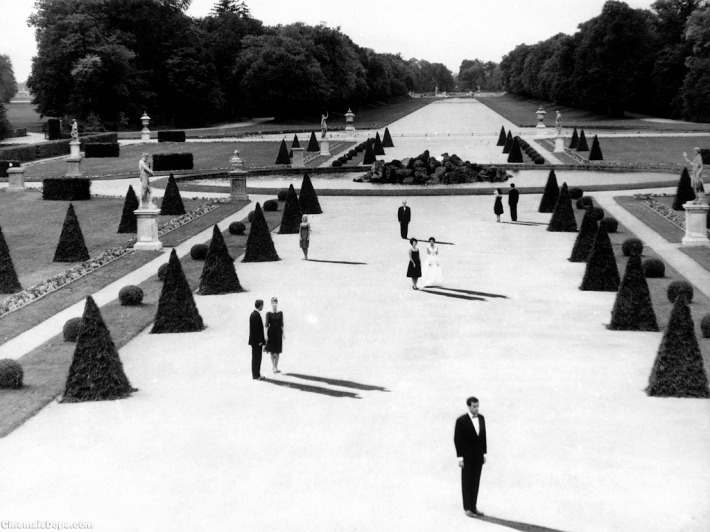 aestheticismm:  Alain Resnais. L'Année dernière à Marienbad, 1961. Film Still  Such a beautiful film, with such a distracting score.