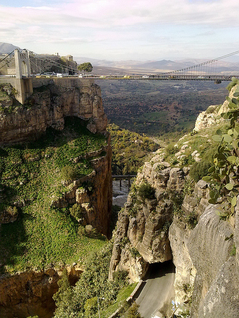 visitheworld:  The suspended bridge in Constantine, Algeria (by yacinetig).