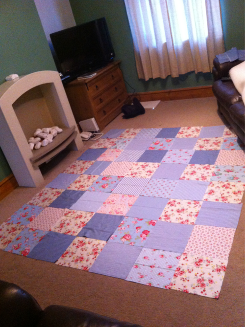 Decided on a layout for my new patchwork quilt now onto the stitching!! :)