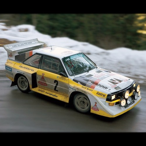 Just FYI, we're still jocking this #GroupB #Audi #Quattro #rally car. Precursor to #WRC cars! (Taken with instagram)