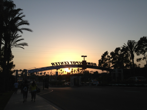 leaving the Home Depot Center after watching the L.A. Galaxy.
