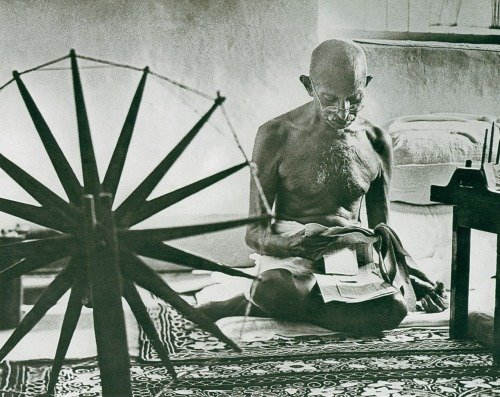 Gandhi, 1946  by Margaret Bourke-White