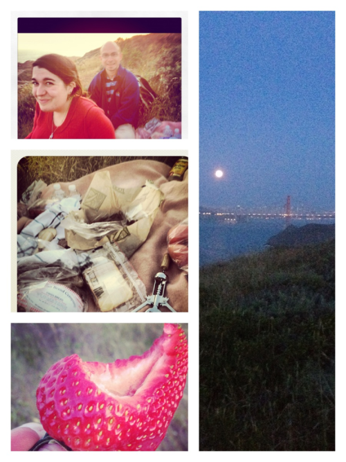 Picnic at the super moon was awesome