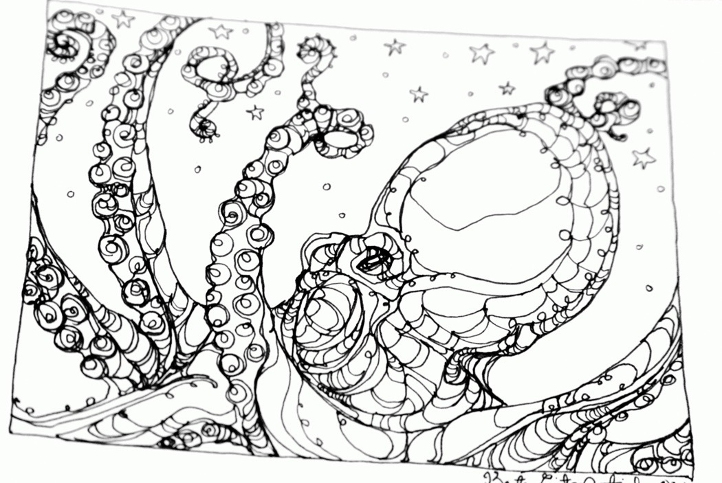 Little Octopus (illustration in progress)