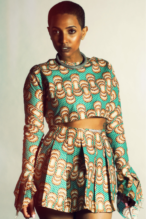 yanghi:  Yanghi Butterfly top and pleated skirt. #Qualia #Mashallah Shot by Danielle Bella. Muse Sonnie Daze.   Wow