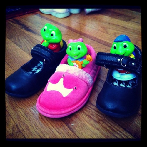 Frogs in Shoes, found in the new living room  (Taken with instagram)