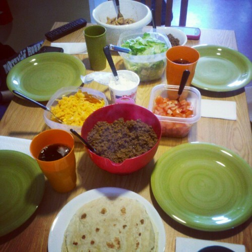 Taco night  (Taken with instagram)