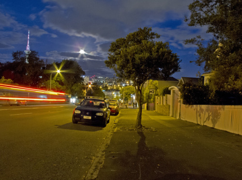 Super Moon from College Hill, Auckland. 6/5/12