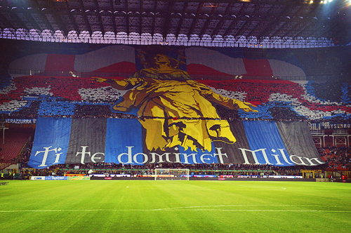 "iheartblackandblue:  ""Ti te dominet Milan"" - THE ONLY CURVA OF MILANO"