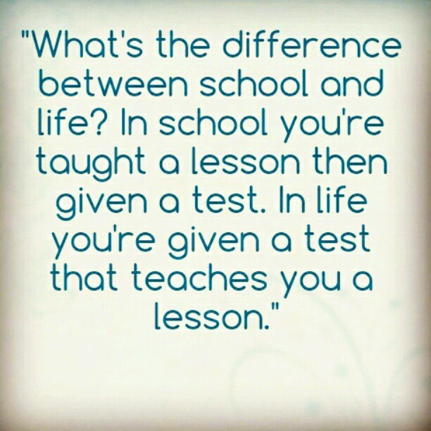 Saw this quote in the yearbook. #jchs #yearbook #2012 #quote #lesson #school #life (Taken with instagram)