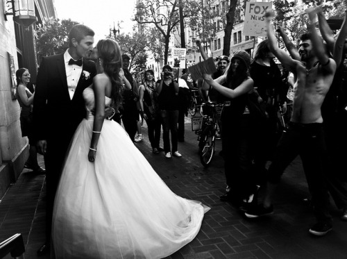 sem título by pix.plz on Flickr.protest wedding