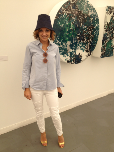 Look who we bumped into as she was making her way through the aisles of art at Frieze New York! Kelly Framel of The Glamourai. #FNY12