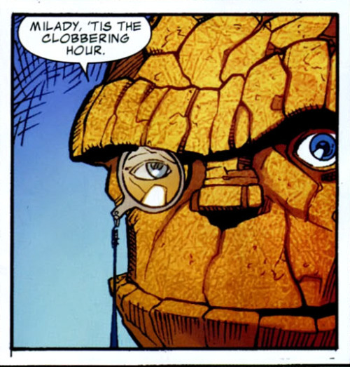 twentypercentcooler:  darkarfs:  awhitecuban:  Dark Reign: Fantastic 4, Issue 2 by Sean Chen  forever  Idol o' millions.  YES!!!