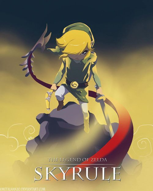 saveyoursympathies:  The Legend Of Zelda - Skyrule Credit to http://metalhanzo.deviantart.com/ This is seriously awesome.