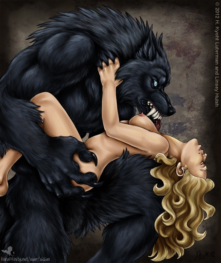 "The girl sighed as the Wolf's tongue licked her breast, teasing her nipple briefly before he licked her neck. ""Oh, what a big tongue you have."" The Wolf smiled as his dark eyes looked deeply into hers and he tightened his grip, pressing her body against him so he could feel her shudder as his breath caressed her ear.  ""All the better to taste you with, my dear."""