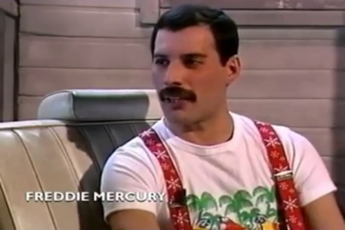 Just been watching Freddie's interview in 1985 x