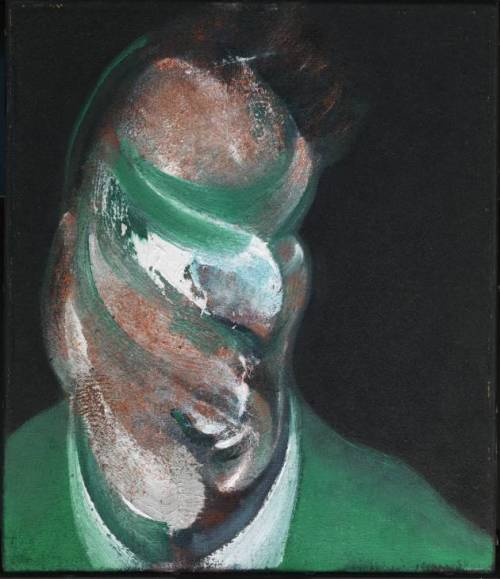cavetocanvas:  Francis Bacon, Study for Head of Lucian Freud, 1967