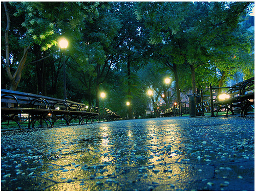 bluepueblo:  Rainy Night, Union Square, New York City photo via libby