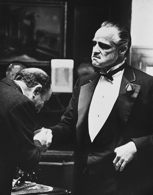 "But, now you come to me, and you say: ""Don Corleone, give me justice"". But you don't ask with respect. You don't offer friendship. You don't even think to call me Godfather. Instead, you come into my house on the day my daughter is to be married, and you ask me to do murder for money."