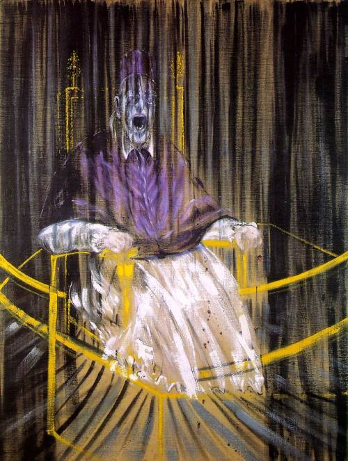 cavetocanvas:  Francis Bacon, Study After Velazquez's Portrait of Pope Innocent X, 1953