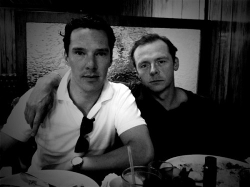 Simon Pegg and Benedict Cumberbatch everybody.