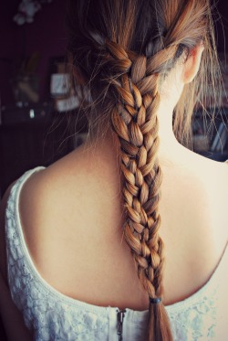 lettinglovegrow:  My friend and her cool braid made by my little sis