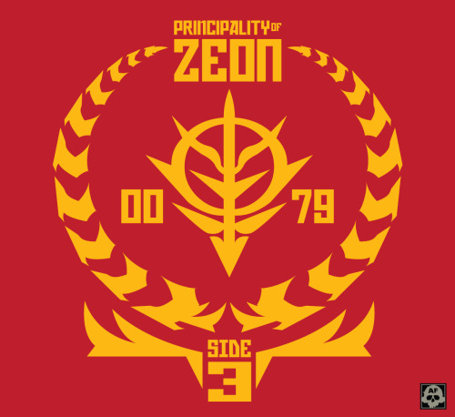 Principality of Zeon - Sieg Zeon!!! Just a design I came up with for the zeon symbol representing the date and Side 3. Shirt anyone :D