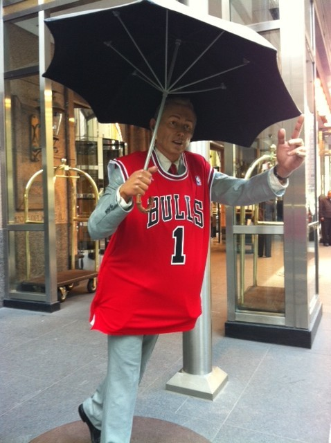 Four Seasons Hotel Chicago still believes!  Go Bull!