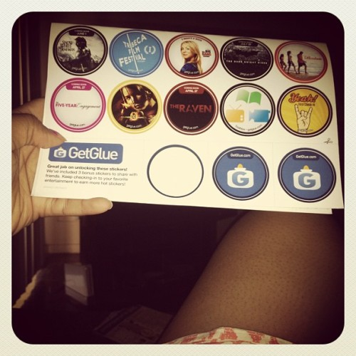 #getglue stickers came on Friday, way earlier than expected! #prettycool (Taken with instagram)