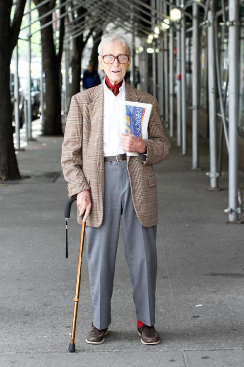 "humansofnewyork:  ""I'm 99 years old. Everything from my neck down is shit. But everything from my neck up is as good as anyone else. How lucky is that?"""