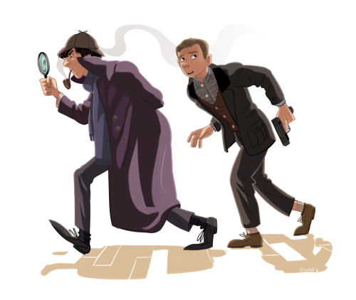 troffie:  So heeeeere's part of a BBC Sherlock print I'm doing for Fanime/Anime Expo. I don't follow Sherlock fandom so I apologize if this sort of thing has been done to death but I really, really wanted to draw this! Also, it's meant to be seen pretty huge so I recommend looking at it in high res. :3