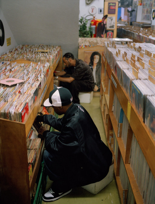 "rappcats:  Madlib & J Dilla in Brazil, 2005.  Photo by B+  ""The photos B+ captured of Dilla have become the some of the most definitive images of the producer. In another, he got Madlib & Dilla together on a short trip to Brazil in 2005.  We planned to get pictures for Donuts, but Dilla's unstable health during that time caused him to cut the trip short."" - Jeff Jank / Stones Throw"