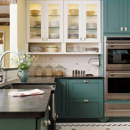 myidealhome:  traditional kitchen with a twist