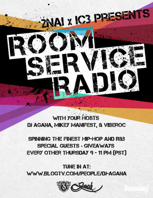 If you're not up on Room Service Radio yet, this is your opportunity to tune in! Next show is this Thursday. Tune in and vibe out to some dope music, freestyles, lovely conversations, and much more. Please help spread the word, especially if you've tuned in to one of our shows. It'll be much appreciated. Thanks y'all.