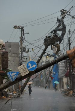 n8yager:  Damage caused by a tornado in Tsukuba, Ibaraki Prefecture
