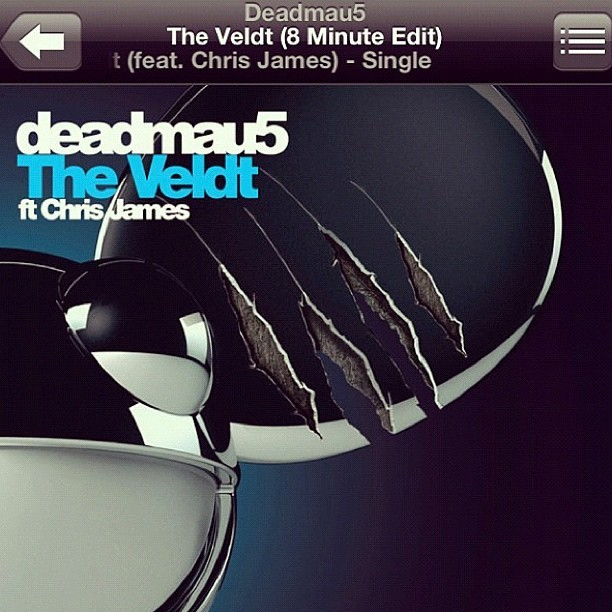Still can't stop listening to this one #trackoftheday @deadmau5 #theveldt finally released! (photo cred. @jay_cobb) (Taken with instagram)