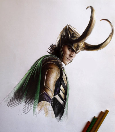 gaksdesigns:  Loki drawing by MaryRiotJane