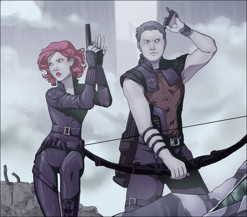 lettiebobettie:  I said I would redo it, I did… Black Widow and Hawkeye were my favs…. I just loved them.  So yeah