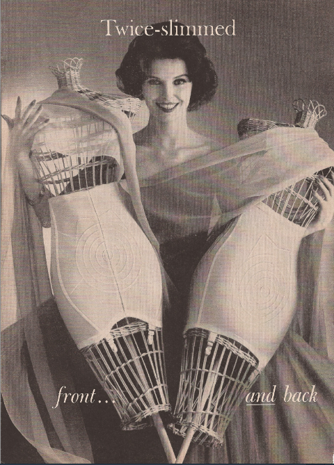 Girdle advertisement, 1950s