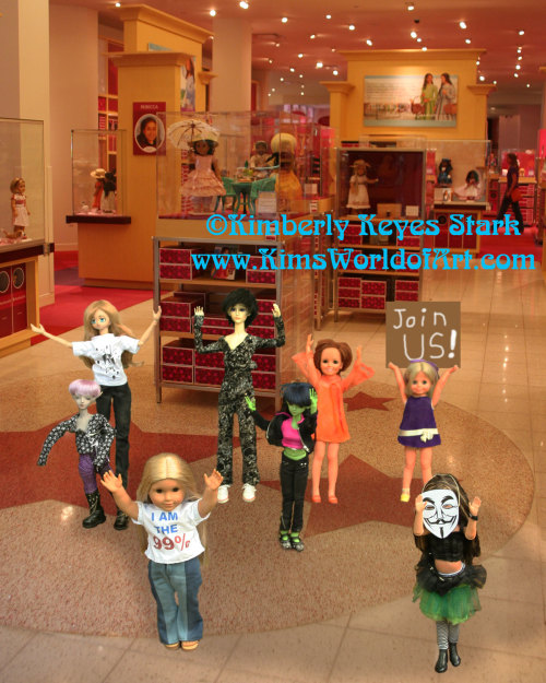 Occupy the Dollhouse stages a flash mob at the American Girl Place. Now through June 23 you'll be able to see and purchase print versions of these photos at Artomatic 2012 in Crystal City, Virginia. The Occupy the Dollhouse exhibit is located on the 10th floor in room 166.