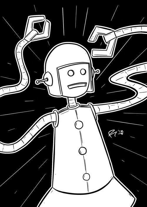 TCAF 2012 | Girlbot; 04-05-10. For @jinxville (Diana Nock).Media: Wacom Cintiq 24HD, Manga Studio EX4.