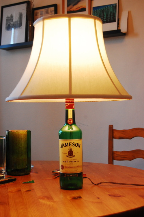 Re-purposed bottle.