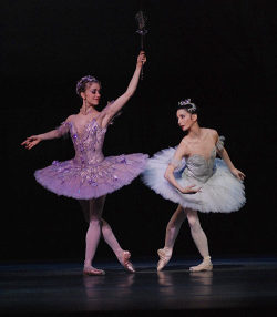 Tamara Rojo as Sleeping Beauty and Marianela Nuñez as Lilac Fairy.
