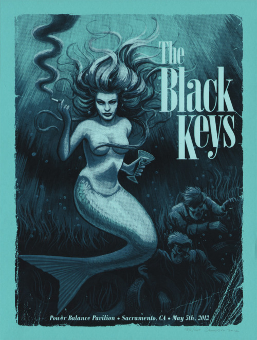 mudwerks:  (via Super Punch: Illustration roundup) The Black Keys poster by Johnny Sampson going on sale tomorrow.