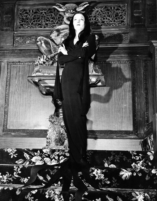 Carolyn Jones as Morticia Addams (1960's)