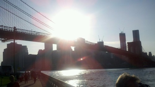 A little B - Roll in Dumbo at sunset. No complaints here.