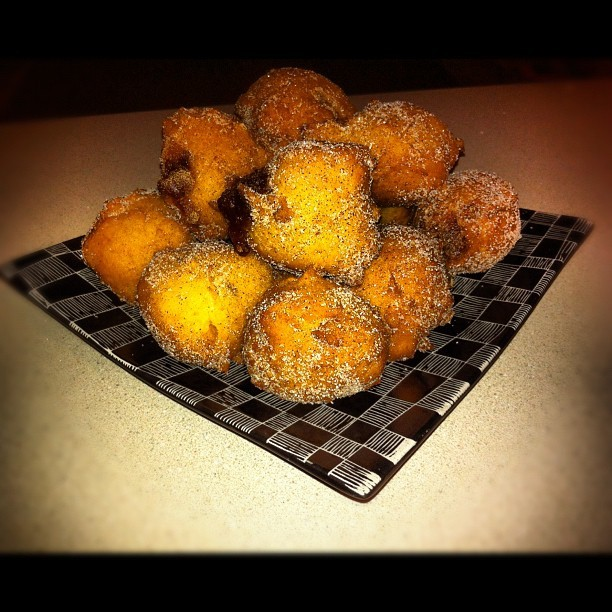 Jelly Donut Holes with Cinnamon-Sugar (Taken with instagram)