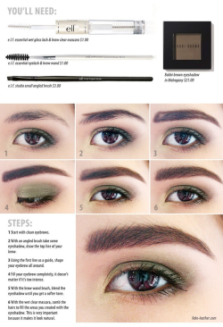 How to shade in your eyebrow (: